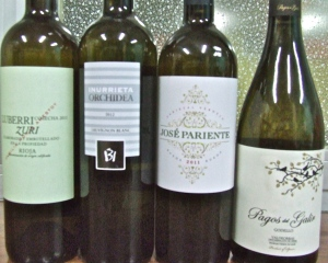 La serie de vinos blancos