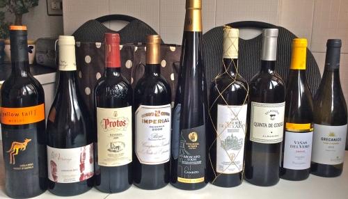 Conjunto de vinos degustados en la Cata