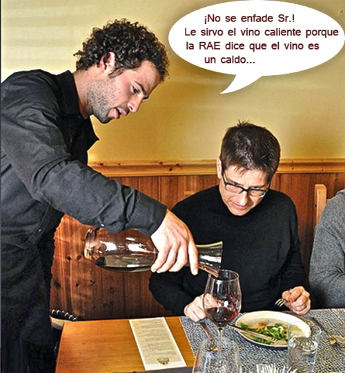 camarero-vino
